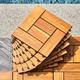 Vifah Outdoor Acacia Interlocking Wooden Deck tile