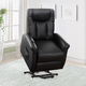 Arlington Gel Leather Power Lift and Rise Recliner