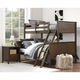 Atwater Living Agnes Twin over Full Bunk Bed, Mocha