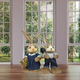 34-In. Mr. and Mrs. Sisal Bunny Pair Figurine