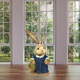 34-In. Mrs. Sisal Bunny with Carrot Basket Figurine