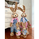 4-Piece Sisal Bunny Family Figurine
