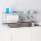 Home Basics Over the Sink Counter Kitchen Station, Chrome