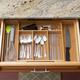 Home Basics Expandable Bamboo Cutlery Tray, Natural