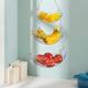 Home Basics 3 Tier Wire Hanging Oval Fruit Basket, Black