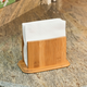 Home Basics Premium Bamboo Freestanding Large Capacity Napkin Holder, Natural
