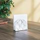Home Basics Lattice Collection Cast Iron Napkin Holder, White