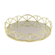 Lace Gold Mirror Inset Round Tray