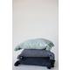 Lumbar Midnight Blue Cotton Slub Pillow with Tassels