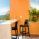 Siesta Outdoor Maya Bar Stool Black (Set of 2)