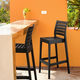 Siesta Outdoor Ares Bar Stool Black (Set of 2)