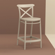 Siesta Outdoor Cross Counter Stool Taupe (Set of 2)