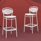 Siesta Outdoor Marcel Bar Stool White (Set of 2)