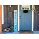 Rustic Rustic Farmhouse 5' Robin Egg Blue Welcome Sign Front Porch