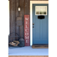 Rustic Rustic Farmhouse 5' Rustic Red Welcome Sign Front Porch