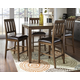 Puluxy Counter Height Dining Room Table and Bar Stools (Set of 5)