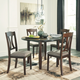 Charnalo Dining Room Table and Chairs (Set of 5)