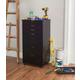Linon Boyd 8-Drawer Rolling Storage Cart