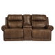 Austere Reclining Loveseat with Console