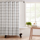 Farmhouse Living Farmhouse Living Double Windowpane Plaid Fabric Shower Curtain, 72