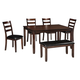 Coviar Dining Room Table and Chairs with Bench (Set of 6)
