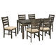 Rokane Dining Room Table and Chairs (Set of 7)