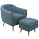 LumiSource Rockwell Chair and Ottoman Set