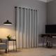 Sun Zero Cayden Grid Texture Draft Shield Fleece Insulated 100% Blackout 50