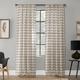 Clean Window Twill Stripe Anti-Dust Linen Blend Sheer 52