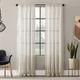 Clean Window Textured Slub Stripe Anti-Dust Linen Blend Sheer 52