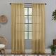 Clean Window Crushed Texture Anti-Dust Sheer Linen Blend 52