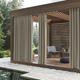 Sun Zero Reed Woven Indoor/Outdoor UV Protectant Room Darkening 52