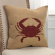 Rizzy Home Crab Throw Pillow