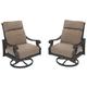 Chestnut Ridge Swivel Lounge with Cushion (Set of 2)