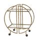 Creative Co-Op Modern Hammered Brass Round Bar cart