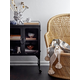 Creative Co-Op Metal Cabinet with Locking Caster Wheels and Glass Doors