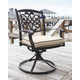 Burnella Swivel Chair with Cushion (Set of 2)