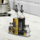 Gibson Home 4-Piece Condiment Set with Wire Caddy