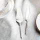 American Atelier 2-Piece Glitter Silver Cake Serving Set