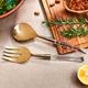American Atelier 2-Piece Acrylic Gold Salad Serving Set