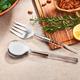 American Atelier 2-Piece Acrylic Silver Salad Serving Set
