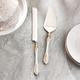 Elle 2-Piece Baroque White/ Gold Cake Serving Set