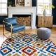 nuLOOM Transitional Labyrinth Outdoor 6' x 6' Rug