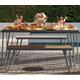 Novogratz Poolside Gossip Collection Paulette Outdoor Table and Bench Set