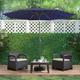 CorLiving  Outdoor LED Light Patio Umbrella