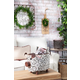 The Gerson Company 16.46-in L Metal Strap-in Home-in with Artificial Wreath Wall Decor