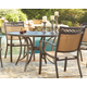 Carmadelia Round Dining Table with Umbrella Option