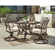 Burnella Round Dining Table with Umbrella Option