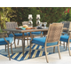 Partanna Dining Table with Umbrella Option