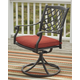 Tanglevale Swivel Chair with Cushion (Set of 2)